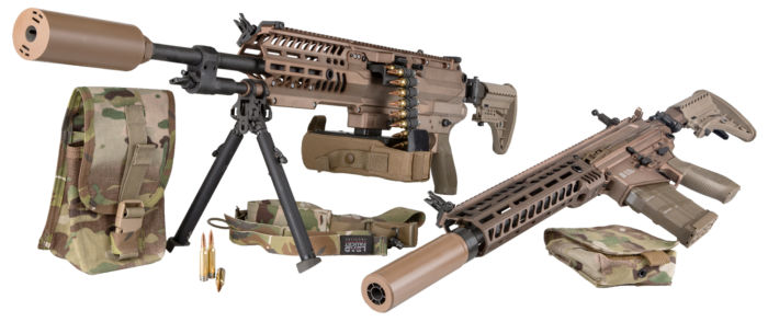 SIG SAUER Selected by U.S. Army for Next Generation Weapons with New Ammunition Technology, Lightweight Machine Gun, Rifle, and Suppressors